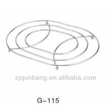 Tapis ovale en fer à repasser, tapis chauffant en métal, coussinet