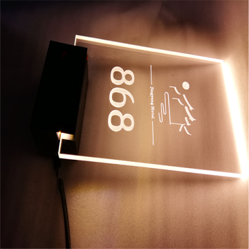 Custom Made LED Hotel Room Numbers Sign