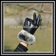 Guante de piel guante de visón de lujo para señora en invierno