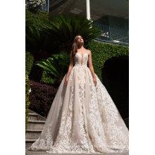 Высокое Качество Блесток Кружева Свадебное Бальное Платье Вечернее Платье Выпускного Вечера
