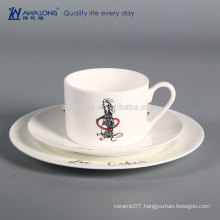 Little Mouse Painting Cartoon Design Engraved China Plates, Bone China Restaurant Tableware
