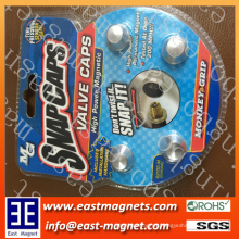 magnet snap caps for sale/colourful neodymium magnet snap caps for car automobile