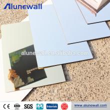 Mirror alucobond aluminum composite panel for interior curtain decoration