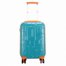 "Travel trolley set, sized 19/24/28"" with zipper, combination lock/padlock, 4 wheels"