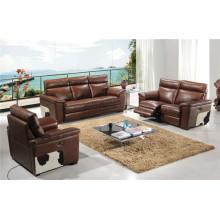 Sofá de la sala de estar con el sofá moderno del cuero genuino (928)