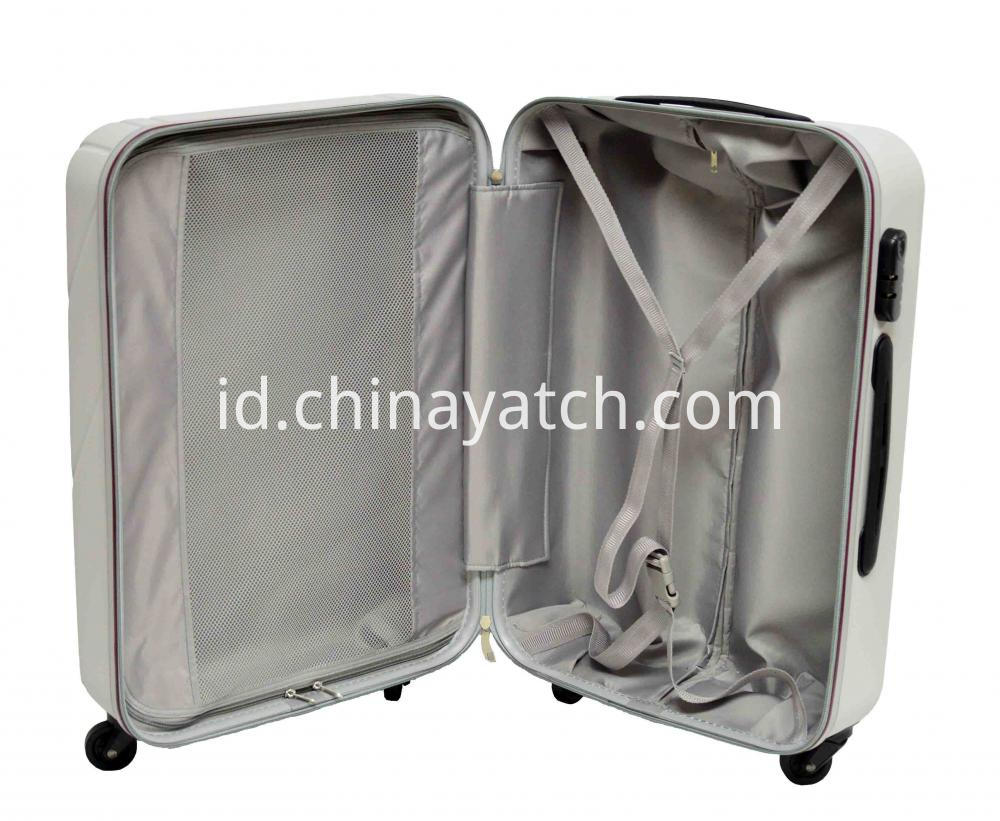 Contrast Color Piping ABS Luggage