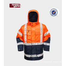 men's gorgeous orange reflective hi vis safety workear