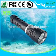 X5 1000lumen Lumière sous-marine magnétique rechargeable torche lumière prix