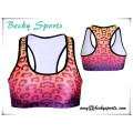Lady′s Sports Bra Push up Padded Running Bra Thin Tank Vest Top