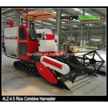Crawler Combine Harvester para Muddy Field