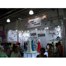 2014 venta caliente vestido de boda show stand de exhibición