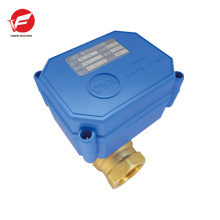 CWX-20 3-Wege-motorisiertes Kugelventil DN20, elektrisches Kugelventil 6v, Spannung 12V 24v für elektronische öffentliche Toilette