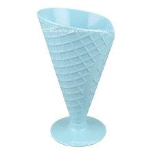 Copa de helado de melamina con cuchara (CP087)