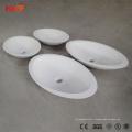 Spécifications modernes de bassin de salle de bains d'évier en résine artificielle
