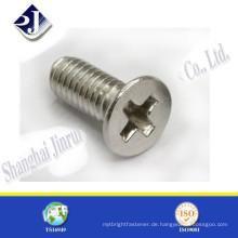 Beste Qualität verzinkt Stahl Senkkopf pozi Schraube