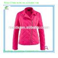 Casual damas acolchado acolchado chaqueta rosa