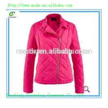Casual Damen Quilten gepolsterte rosa Jacke