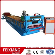 Roof sheet trapezoid tile making roll forming machine