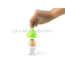 silicone top ceramic egg cup holder