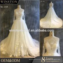 Meilleures ventes de luxe de luxe en mode 2016 robe de mariée robe de mariée