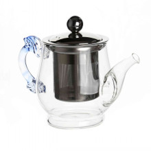 Glass Teapot With Stainless Steel Infuser