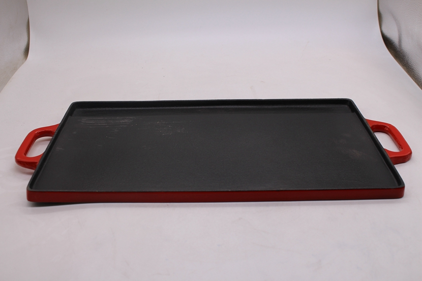 cast iron enamel coating two side griddle