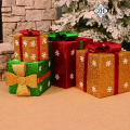 Christmas Gift Box PVC Square Decoration