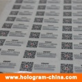 3D Laser Anti-Counterfeiting Hologram Stickers with Qr Code Printing