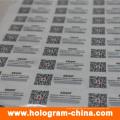 Benutzerdefinierte Hologramm-Aufkleber mit Qr-Code-Druck