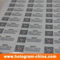 Pegatinas de holograma personalizado con impresión de código Qr