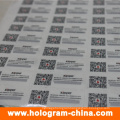 Anti-Fake Hologram Stickers with Qr Code Printing