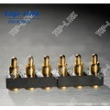 Federbelastete hochwertige Oberflächenmontage 6-poliger Stecker Pogo-Sonde Pin