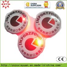Großhandel runde Taschenlampe Button Pin Abzeichen mit benutzerdefinierten Logo