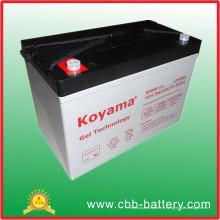 Batterie profonde de cycle de 12V90ah, batterie solaire, batterie de véhicules électriques