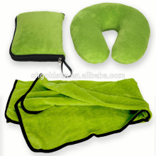 Kits de couvertures de voyage Function Green Airline Comfort