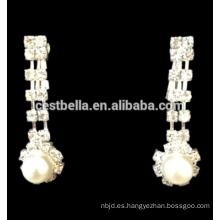 Flor Rhinestone Cristal Bridal Collar Pendientes Mujer Joyería De Boda Set