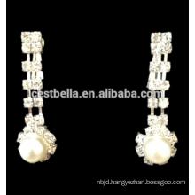 Flower Rhinestone Crystal Bridal Necklace Earrings Women Wedding Jewelry Set
