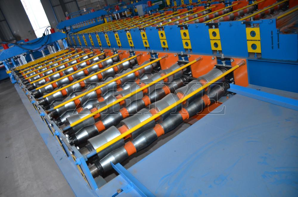 Glasad takläggning Tile Roll Forming Machinery