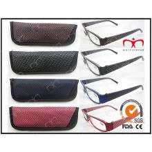 Moda óculos de leitura plástica com bolsa quente venda (wrp410324)