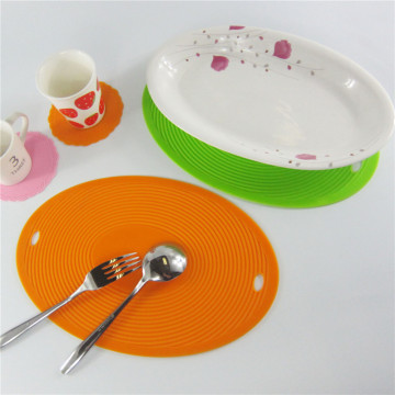 Dish Mat Oval Shape Silicone Table Coaster