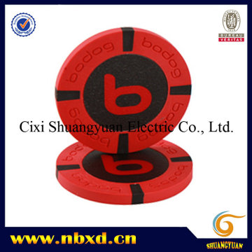 9.5g 4-Stripe Pure Clay Sticker Poker Chip (SY-C18)