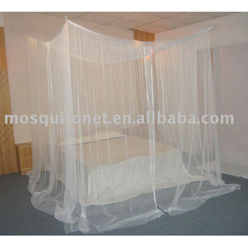 Square mosquito net with four doors