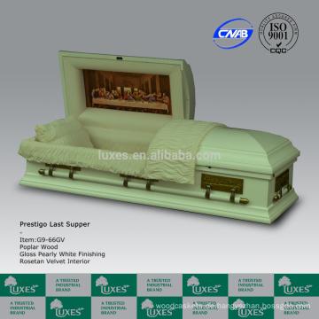 LUXES heißen Verkauf American Style Sarg China Beerdigung Lieferungen Abendmahl
