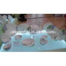 Forma redonda Asiático fino osso China placa de porcelana europeia