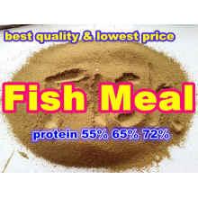 Harina de pescado para la alimentación (proteínas 55% 65% 72%)
