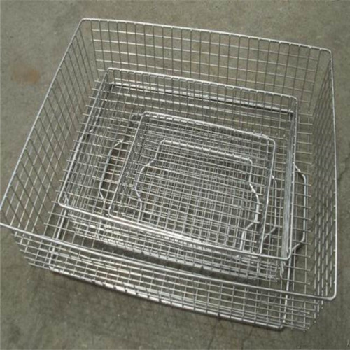 Silver Mesh Stackable Storage Bins