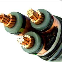 Alto envelhecimento resistindo 10mm2 95mm 120mm 240mm xlpe 3 cabo yjv poder do núcleo