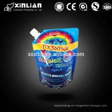 Personalizar la impresión reutilizables stand up spout bolsa bolsa
