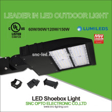 O UL 150w 240w 300w conduziu a luz alta do polo, tudo em uma luz conduzida do parque de estacionamento, luz conduzida do shoebox