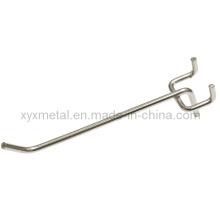 Crochet chromé en acier inoxydable chromé pour Slatwall ou Pegboard